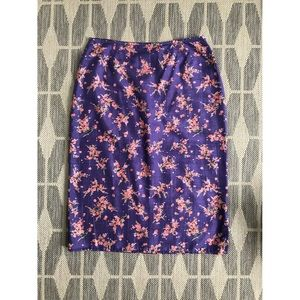 Free People Vintage Silk Floral Midi Skirt